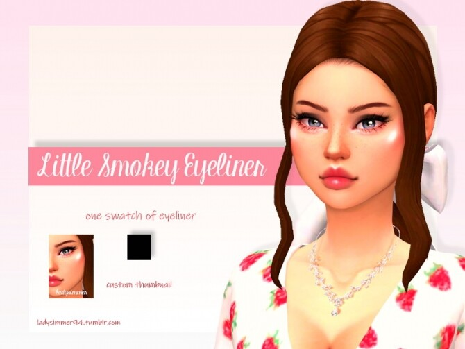 Sims 4 Little Smokey Eyeliner by LadySimmer94 at TSR