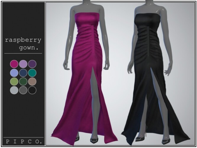 Raspberry gown by Pipco
