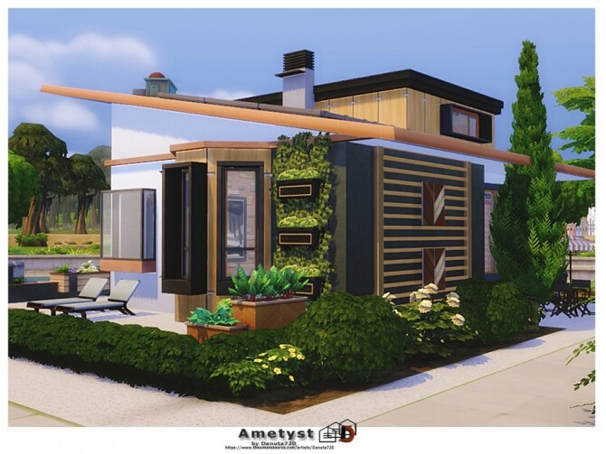 Sims 4 Ametyst home by Danuta720 at TSR