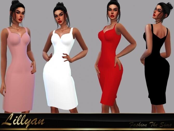 Sims 4 Elegant dress Sara by LYLLYAN at TSR