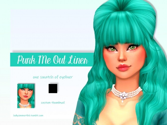 Sims 4 Punk Me Out Liner by LadySimmer94 at TSR