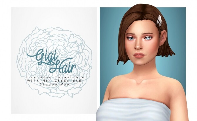 Sims 4 Gigi short cute pinterest hair at Isjao