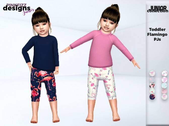 Toddler Flamingo PJs by Pinkfizzzzz at TSR image 2916 670x503 Sims 4 Updates