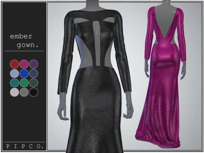 Ember gown by Pipco at TSR image 2917 670x503 Sims 4 Updates