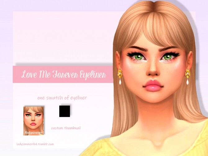 Sims 4 Love Me Forever Eyeliner by LadySimmer94 at TSR
