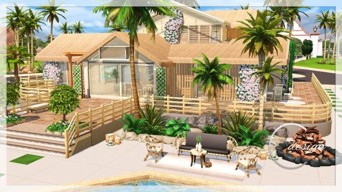 Coconut Home at Cross Design image 2962 670x377 Sims 4 Updates