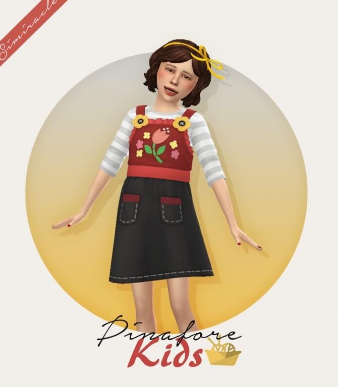 Pinafore Dress Kids Version at Simiracle image 2991 670x767 Sims 4 Updates