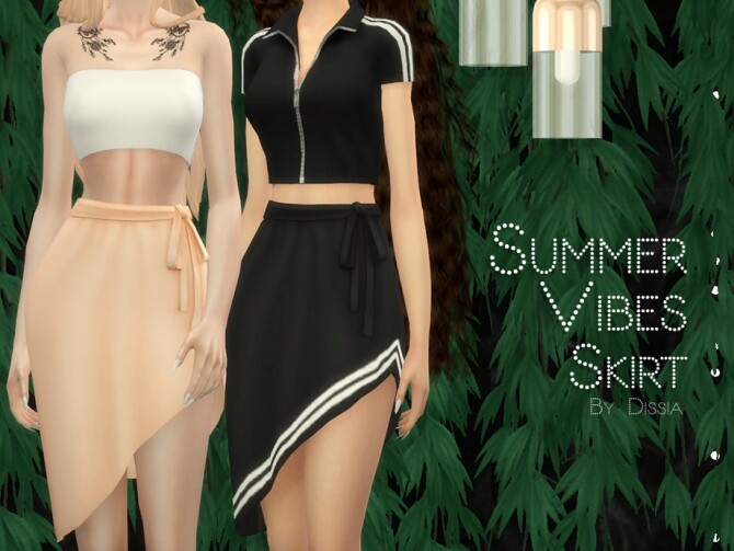 Sims 4 Summer Vibes Skirt by Dissia at TSR