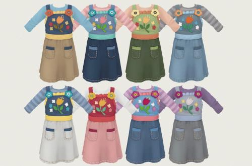 Pinafore Dress Kids Version at Simiracle image 300 Sims 4 Updates