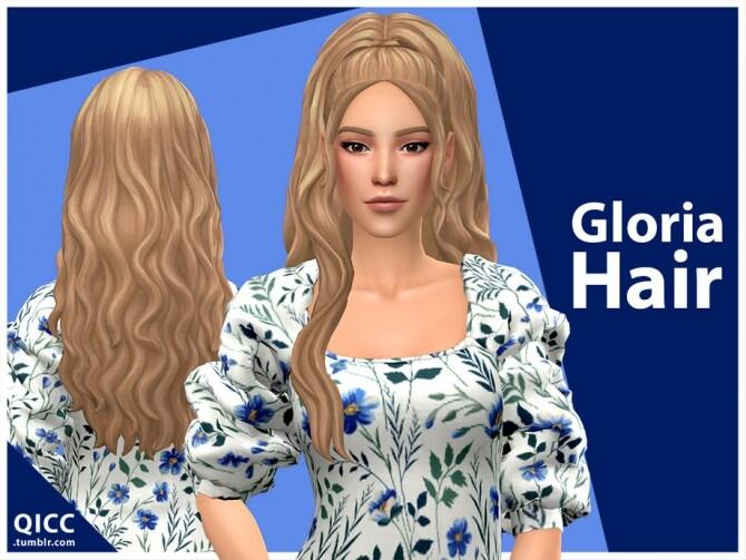 Gloria Hair Set by qicc at TSR image 3015 670x503 Sims 4 Updates