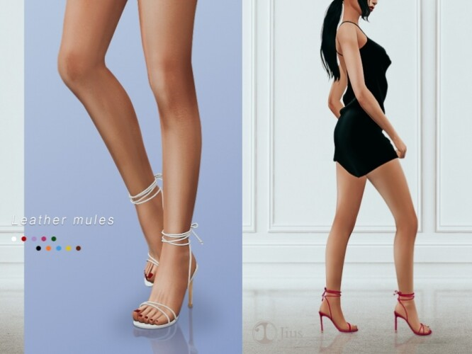 Leather sandals 01 by Jius