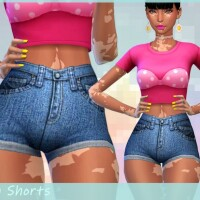 Denim Shorts by Saruin