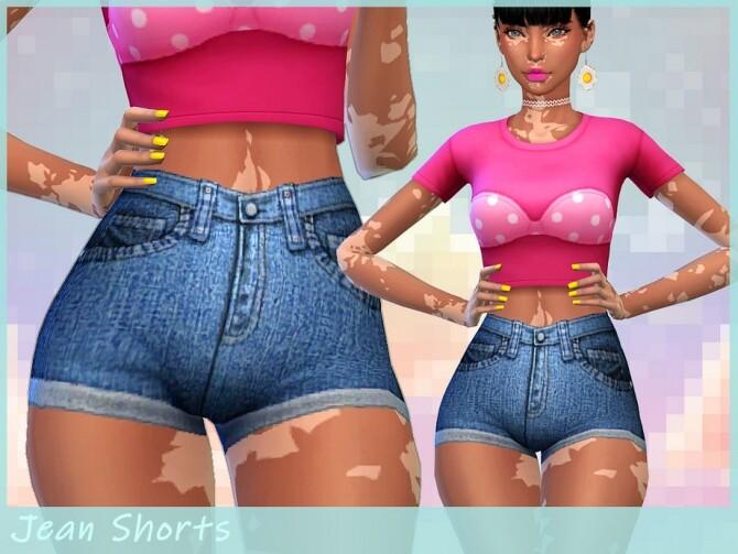 Sims 4 Denim Shorts by Saruin at TSR