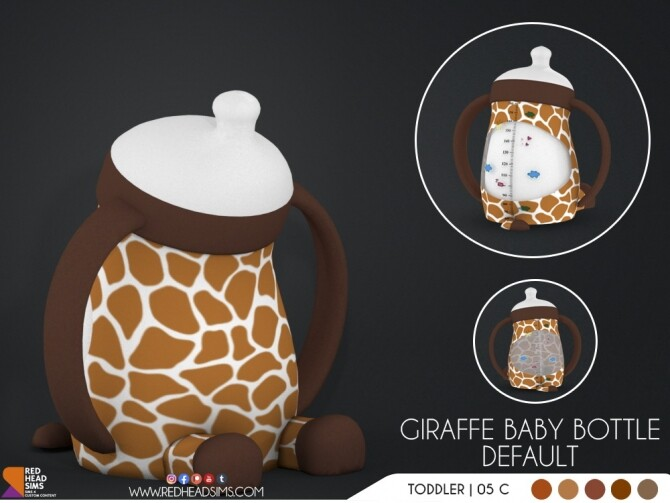 GIRAFFE PACIFIER + BABY BOTTLE DEFAULT at REDHEADSIMS image 3031 670x503 Sims 4 Updates