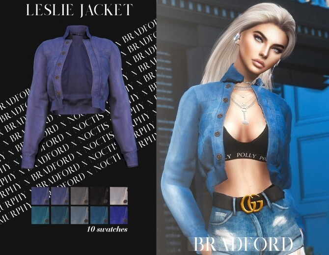 Leslie Jacket by Silence Bradford at MURPHY image 3032 670x519 Sims 4 Updates