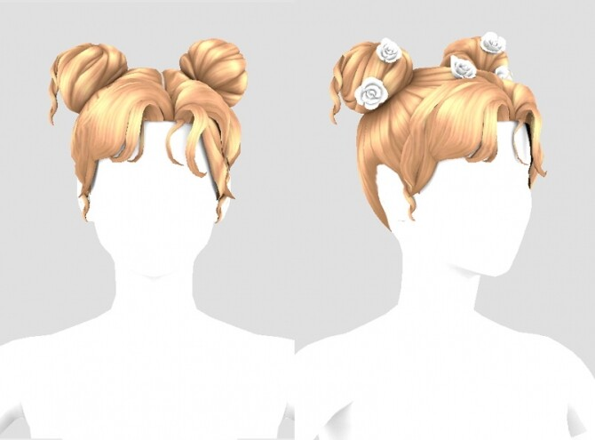 FM Twin rose hair & hairpin at Bedisfull – iridescent image 3051 670x495 Sims 4 Updates