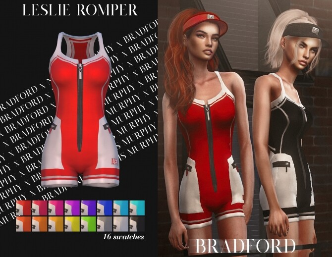 Sims 4 Leslie Romper by Silence Bradford at MURPHY