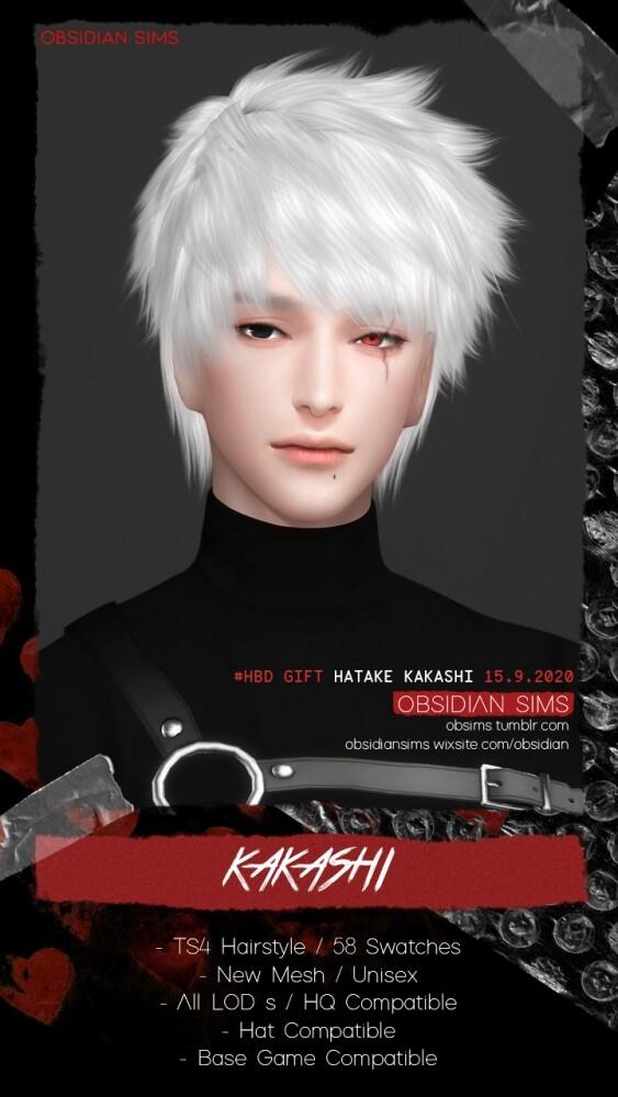 KAKASHI HAIR   HBD 15.9 Hatake Kakashi at Obsidian Sims image 3061 563x1000 Sims 4 Updates