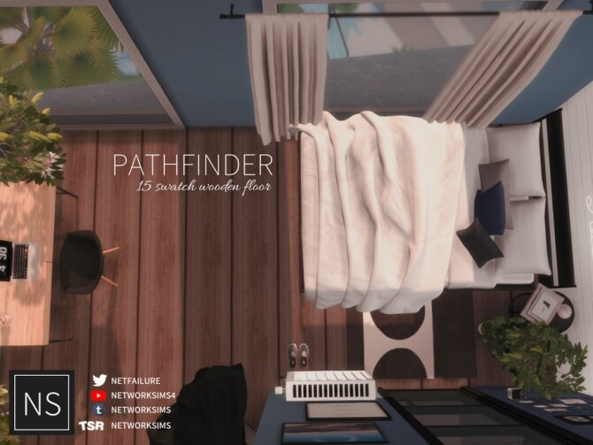 Sims 4 Pathfinder Wooden Floor by networksims at TSR