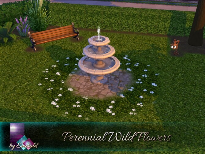 Sims 4 Perennial Wild Flowers by emerald at TSR