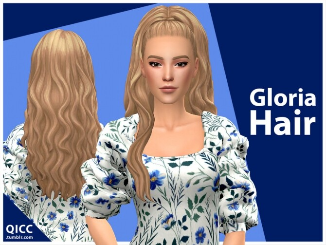 Sims 4 Gloria Hair Set by qicc at TSR