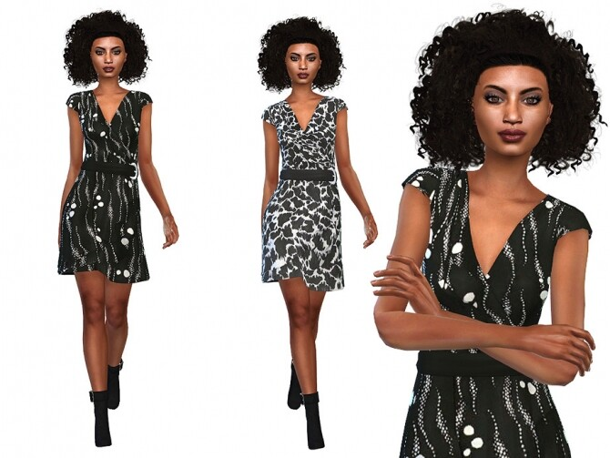 Sims 4 Layered Dress 02 by Little Things at TSR