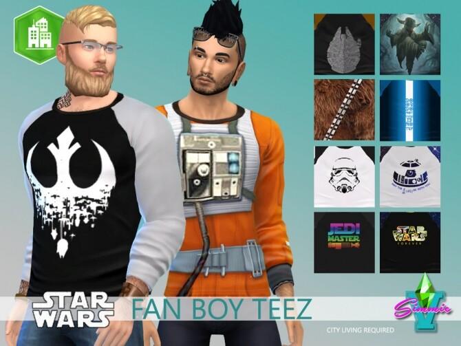 Sims 4 Star Wars Fan Boy 3Q Teez by SimmieV at TSR