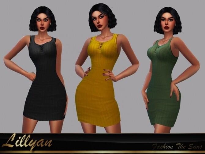 Sims 4 Fabiana dress by LYLLYAN at TSR
