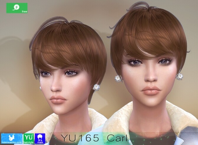 YU165 Carl hair for females at Newsea Sims 4 image 3171 670x491 Sims 4 Updates