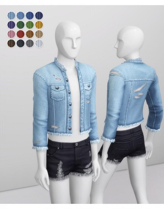 Sims 4 Denim Jacket 2020 M II at Rusty Nail