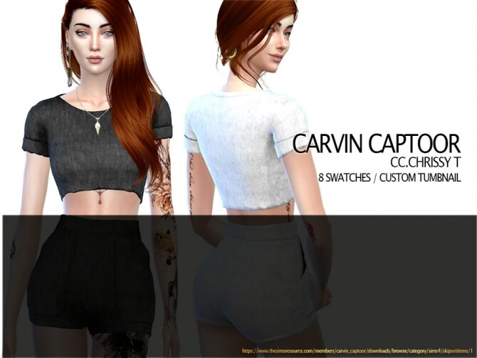 Chrissy Top by carvin captoor at TSR image 3313 670x503 Sims 4 Updates