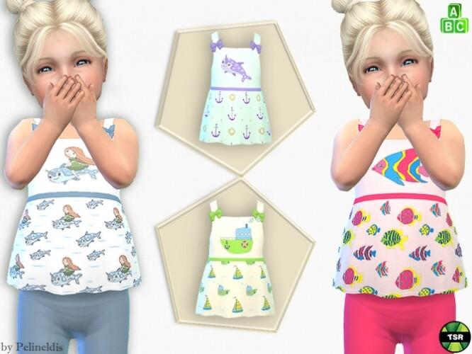 Toddler Girl Cute Tank Top by Pelineldis