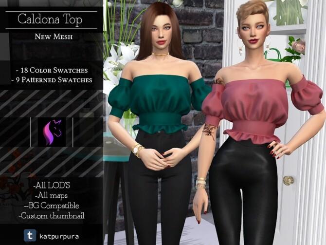 Sims 4 Caldona Top by KaTPurpura at TSR