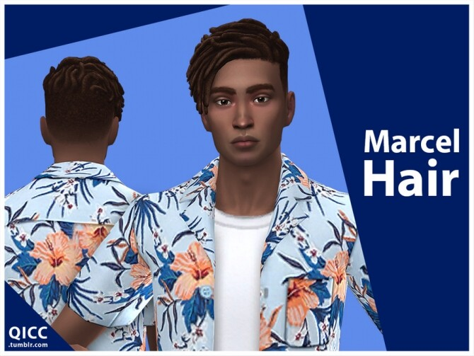Sims 4 Marcel Hair by qicc at TSR