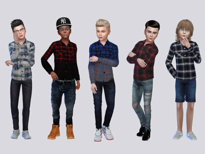 Sims 4 ButtonUps Co. I Top Kids by McLayneSims at TSR
