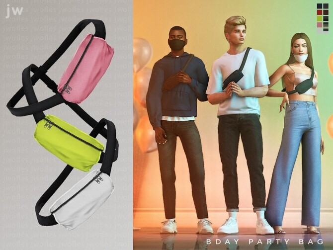 Sims 4 BDAY PARTY Bum Bag Fanny Pack by  jwofles sims at TSR