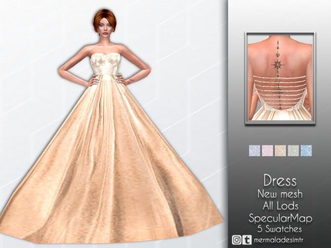 Sims 4 Dress MC57 by mermaladesimtr at TSR