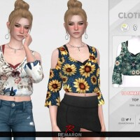 Floral Blouse for Women 02 by remaron
