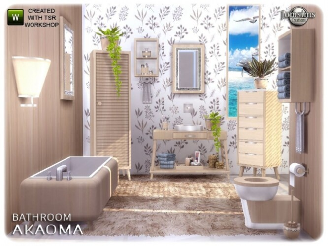 Akaoma bathroom by jomsims