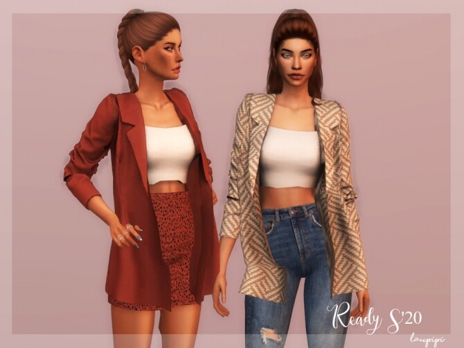 Jacket + Top Outfit TP 345 by laupipi at TSR image 3618 670x503 Sims 4 Updates
