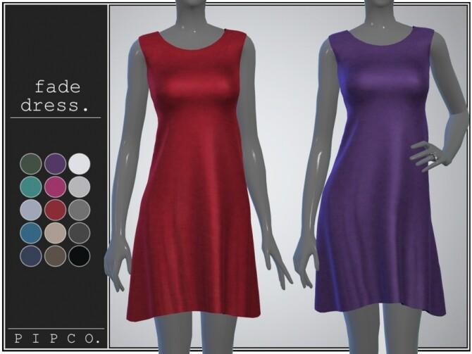 Sims 4 Fade dress by pipco at TSR