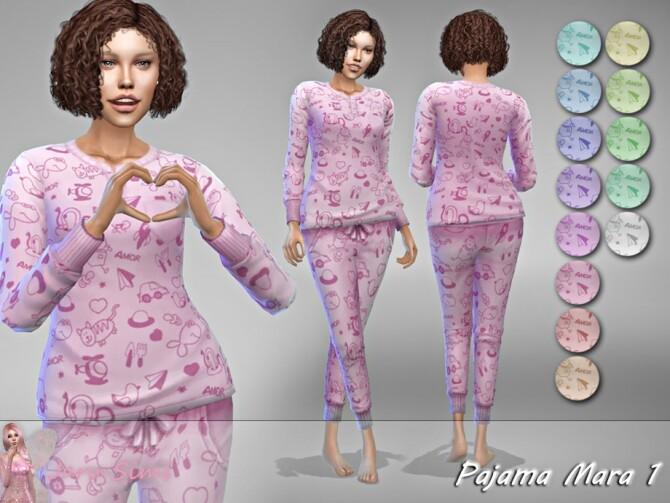 Sims 4 Pajama Mara 1 by Jaru Sims at TSR