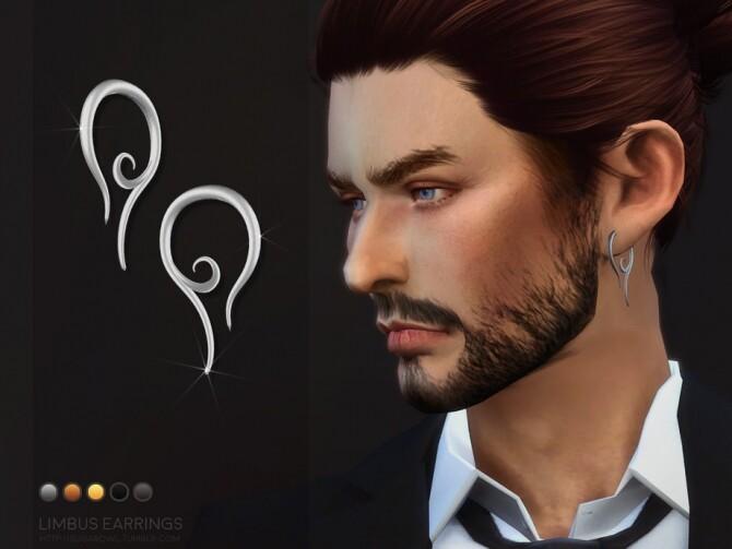 Sims 4 Limbus earrings by sugar owl at TSR