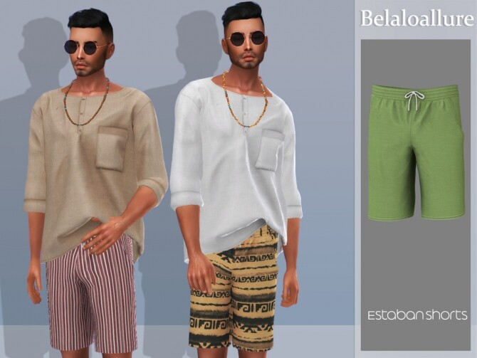 Sims 4 Belaloallure Estaban shorts by belal1997 at TSR