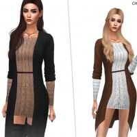Knitted Dress With Jacket by CherryBerrySim