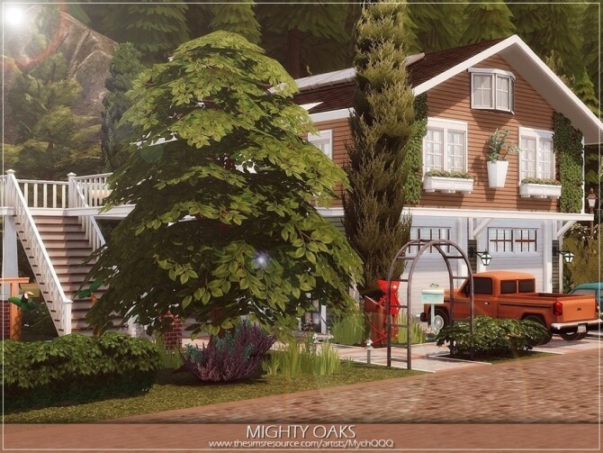 Sims 4 Mighty Oaks Home by MychQQQ at TSR