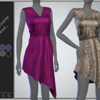 Rattlesnake dress collection by pipco