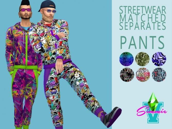 Sims 4 Streetwear Separates Pants by SimmieV at TSR