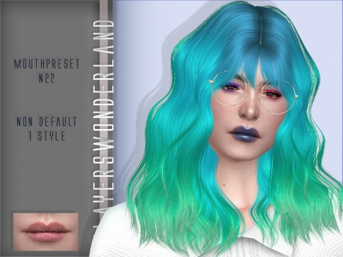 Mouthpreset N22 by PlayersWonderland at TSR image 4 670x503 Sims 4 Updates