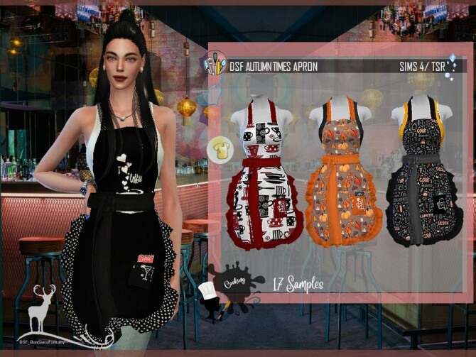 DSF AUTUMN TIMES APRON by DanSimsFantasy at TSR image 40 670x503 Sims 4 Updates